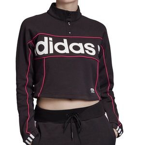 Adidas Originals Trefoil Cropped Sweatshirt. NEW